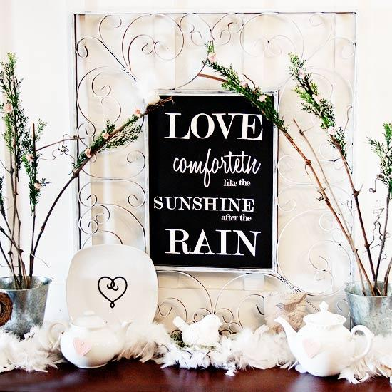 Framed Love Quote Decoration - Easy DIY Handcrafted Valentine's Day Decor