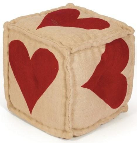 Heart Pouf-Love home decor for February 14th
