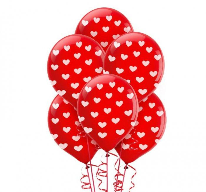 Heart Print Latex Balloons- Lovely Items for Home Decoration