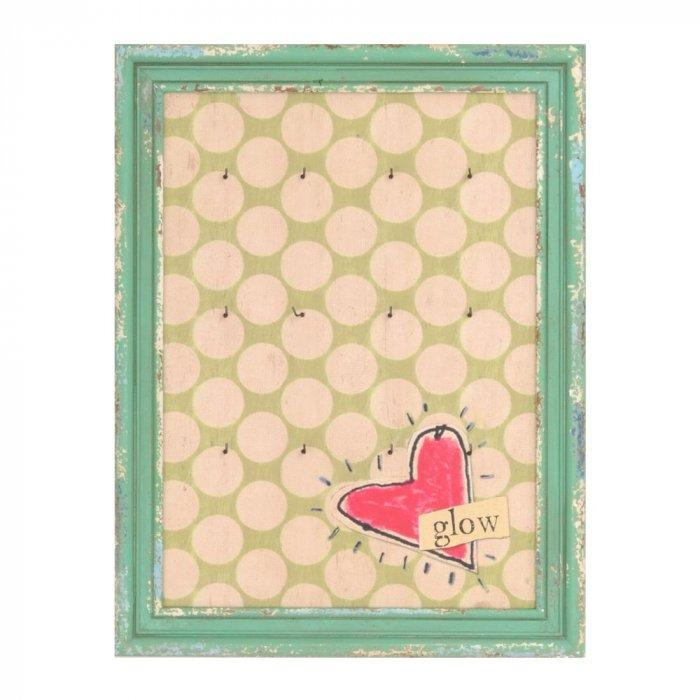 Heart's Glow with Hooks Wall Plaque -Valentine's Day Items & Ideas for Themed Decoration