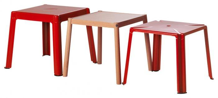 Interesting and Funny Approach to Saint Valentine's Day - IKEA PS 2012 Nesting Tables, Red/Beech