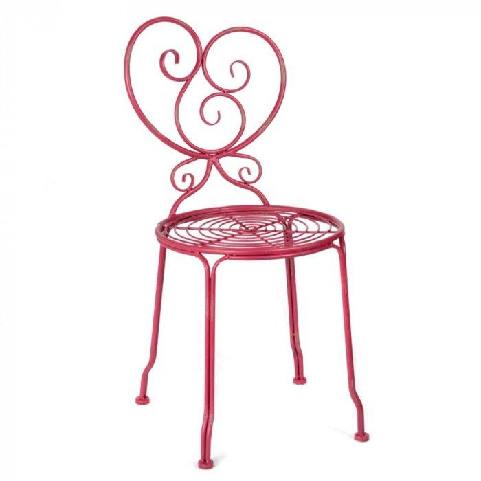 Kallista Red Iron Side Chair -Valentine's Day Items & Ideas for Themed Decoration