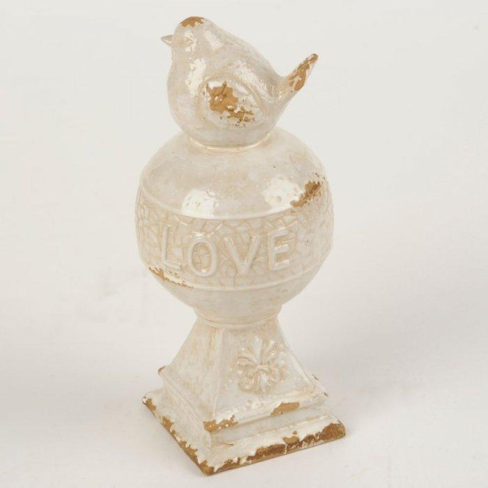 Love Bird Orb Statue -Valentine's Day Items & Ideas for Themed Decoration
