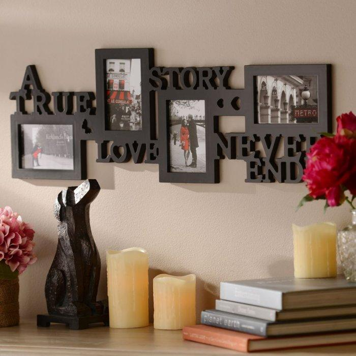 Love Story 4-Opening Collage Frame -Valentine's Day Items & Ideas for Themed Decoration