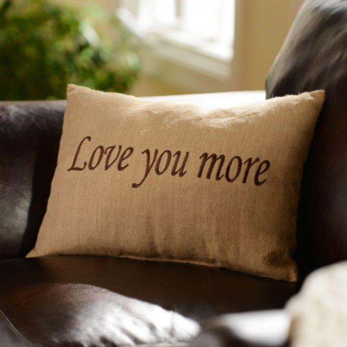 Love You More Accent Pillow -Valentine's Day Items & Ideas for Themed Decoration