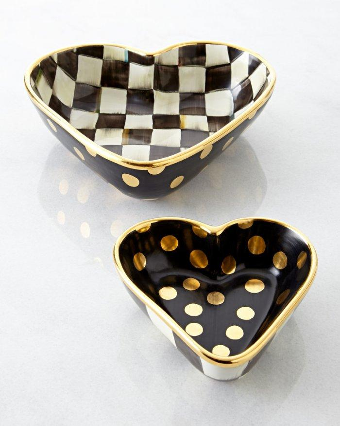 MacKenzie-Childs Courtly Check Heart Bowl- Love home decor for February 14th