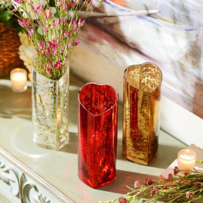 Mercury Glass Heart Vase -Valentine's Day Items & Ideas for Themed Decoration