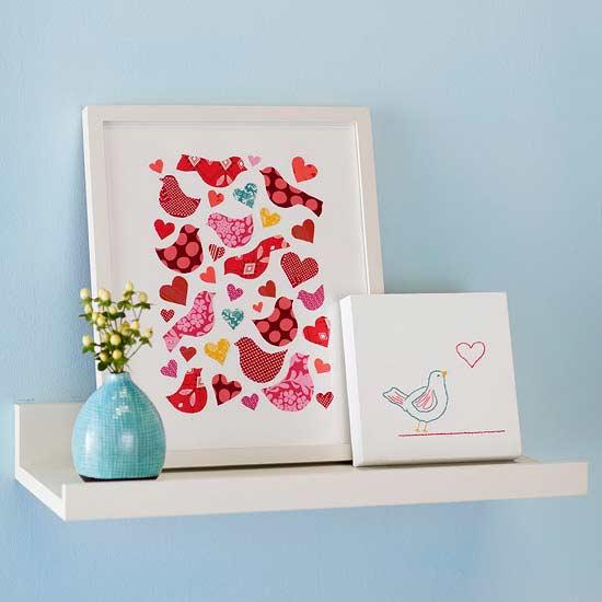 Modern Valentine's Day Artwork - Easy DIY Handcrafted Decor