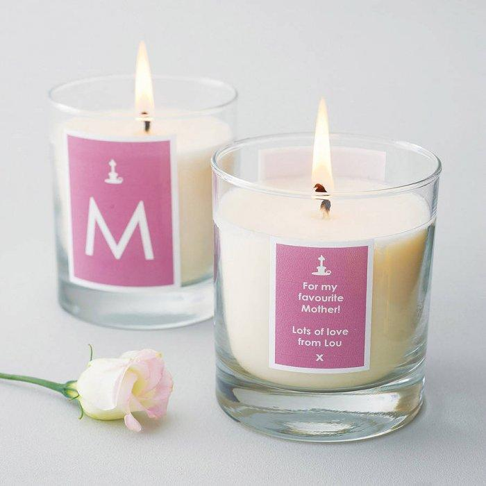 Personalised Candle - 10 unique and lovely Valentine's Day gift ideas