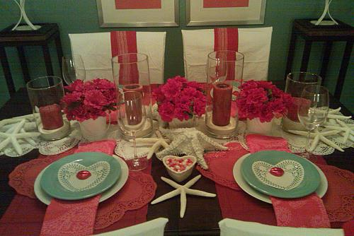 Saint Valentine's dinner table setting - 50 Creative Home Decorating Ideas