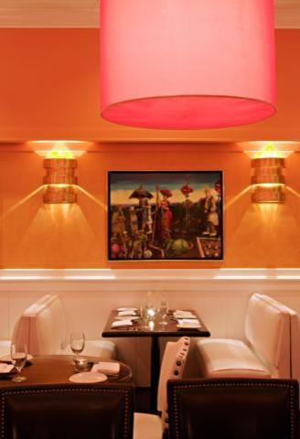 Pink drum pendants in a restaurant - 50 Creative Home Decorating Ideas