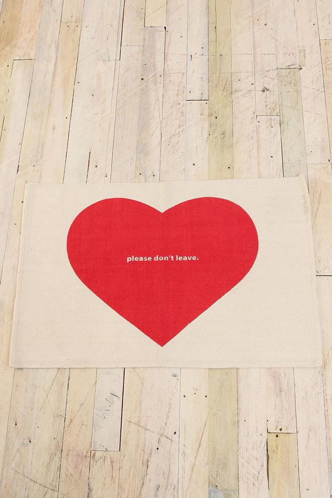Please Don't Leave' Rug-Love home decor for February 14th