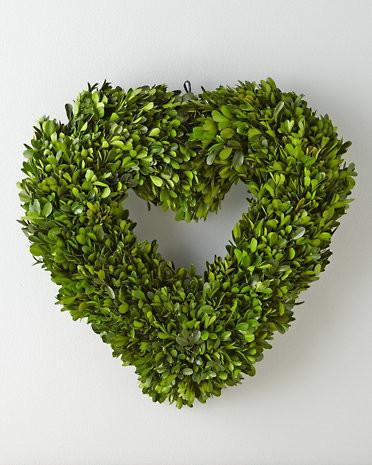 Preserved Boxwood Heart Wreath-Love home decor for February 14th