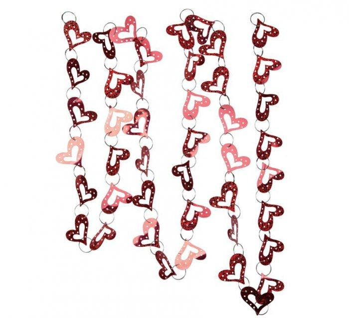 Red Heart Garland- Lovely Items for Home Decoration