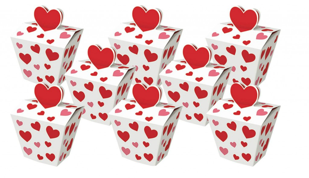 Red Hearts Favor Boxes- Lovely Items for Home Decoration