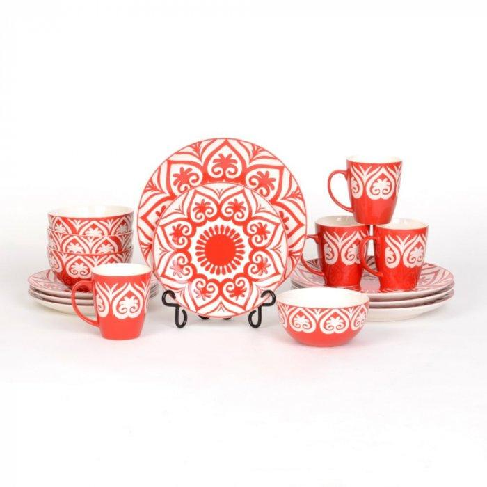 Red Origami 16-pc. Dinner Set -Valentine's Day Items & Ideas for Themed Decoration