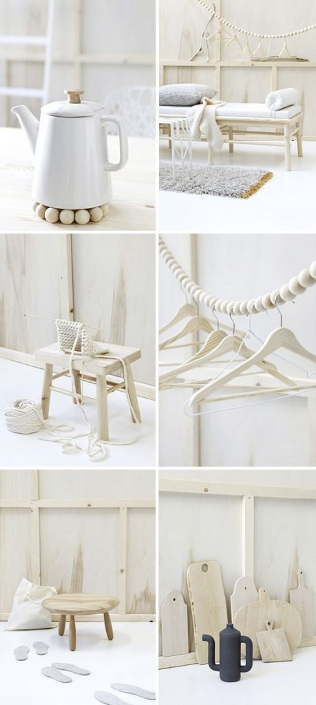 Scandinavian design-white and wood- essential elements in home interior areas