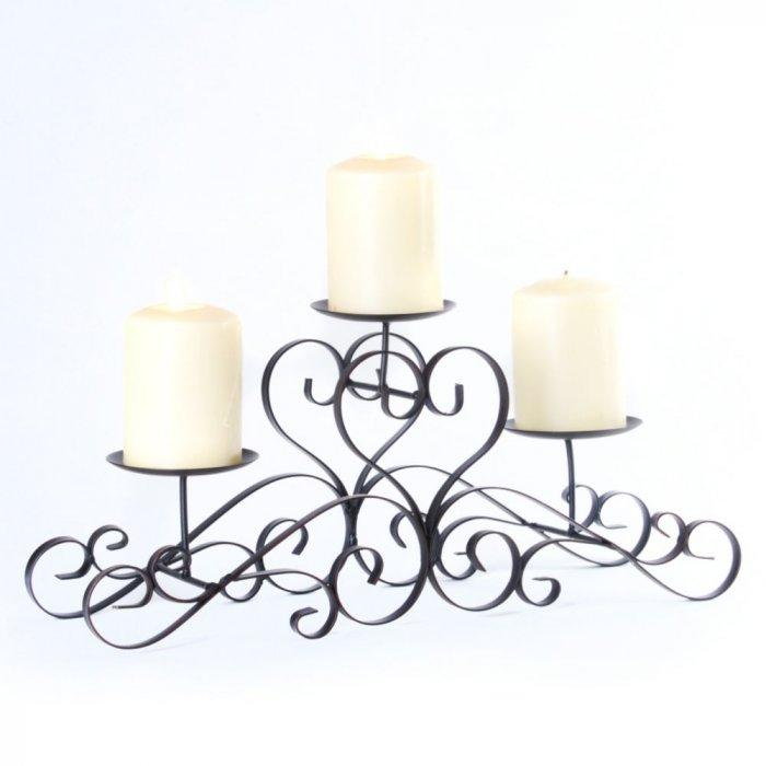 Scrolling Heart Tiered Candle Runner -Valentine's Day Items & Ideas for Themed Decoration