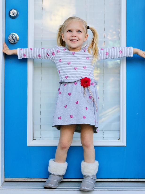 Upcycled Heart T-Shirt Dress -Easy DIY Valentine's Day Crafts for Home Decoration