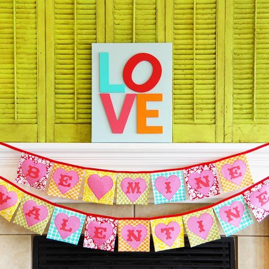 Valentine's Day Banner - Easy DIY Handcrafted Decor