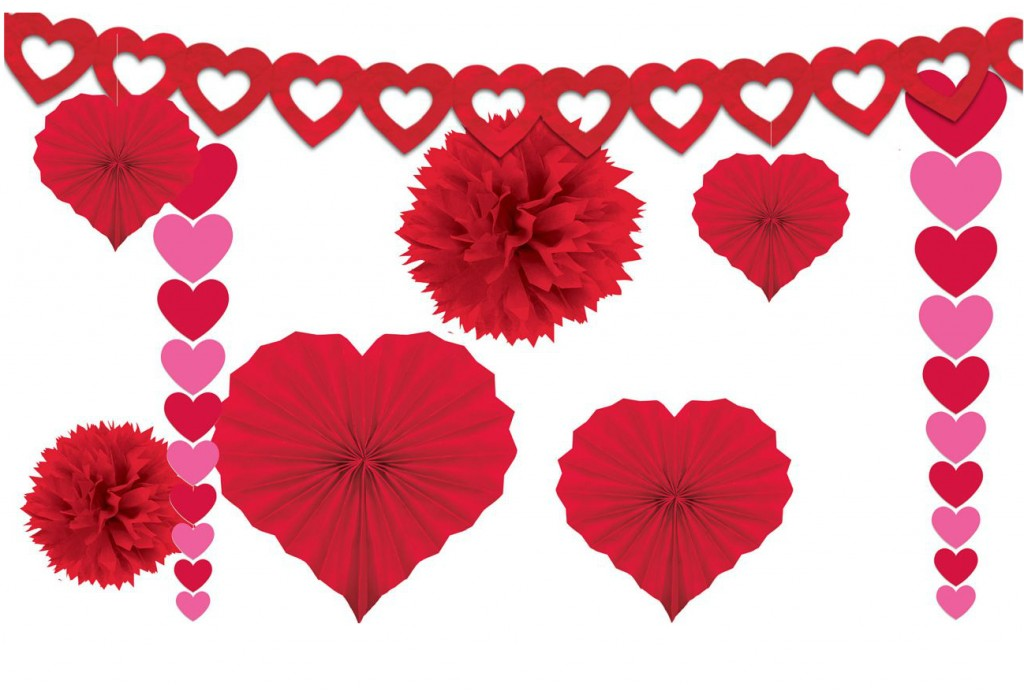 Valentines Day Decorating Kit - Lovely Items for Home Decoration