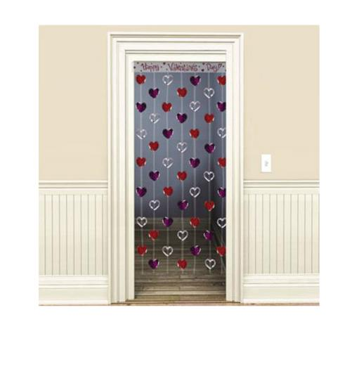 Valentines Day Heart Door Curtain- Lovely Items for Home Decoration