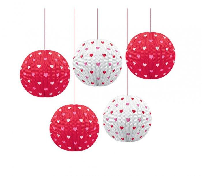 Valentines Day Paper Lanterns- Lovely Items for Home Decoration
