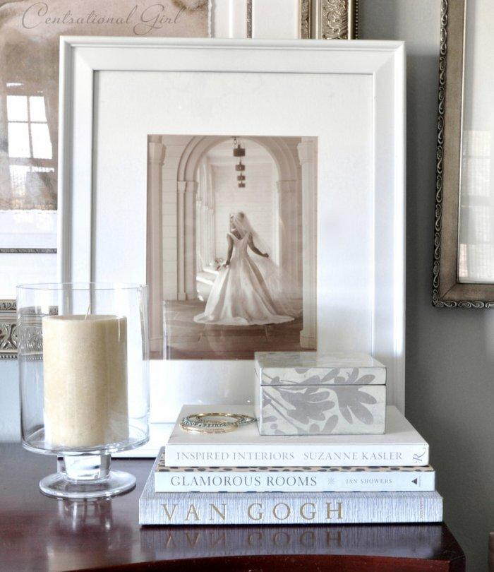 A wedding photo used for decoration - Create an Atmosphere for Saint Valentine's Day