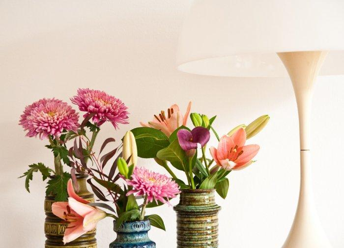 Beautiful Saint Valentine's day flowers - 50 Creative Home Decorating Ideas