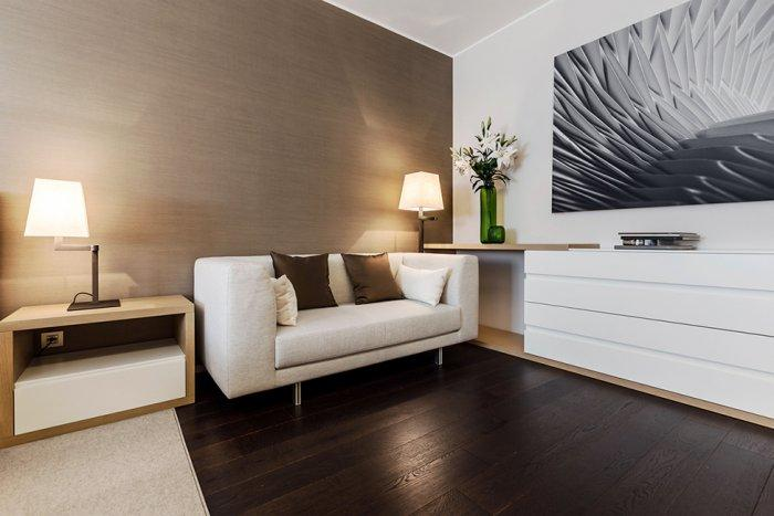 Comfortable small resting sofa placed in the master bedroom - Stylish and Elegant Apartment in Monaco