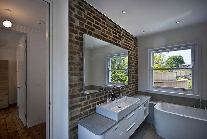Contemporary bathroom in a Victorian house - A modern look at an Old Home in London