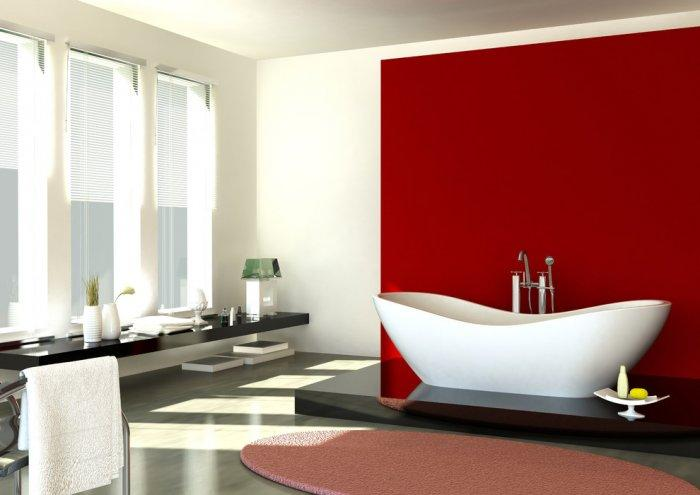 Contemporary bathtub setting for Saint Valentine's day - 50 Creative Home Decorating Ideas