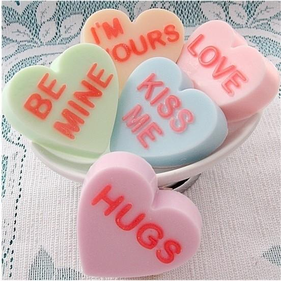 Conversation Hearts Valentine Soaps by So Stinking Sweet - 19 Amazing Valentine's Day Home Decorating Ideas