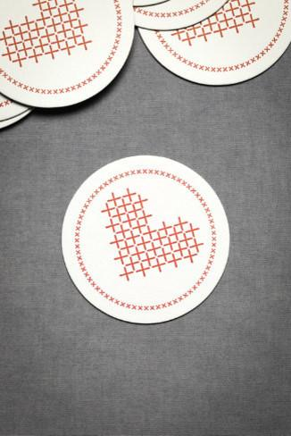 Cross My Heart Coasters - 19 Amazing Valentine's Day Home Decorating Ideas