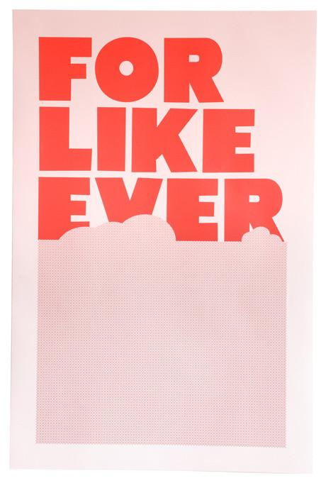 For Like Ever Poster, Pink & Red-19 Amazing Valentine's Day Home Decorating Ideas