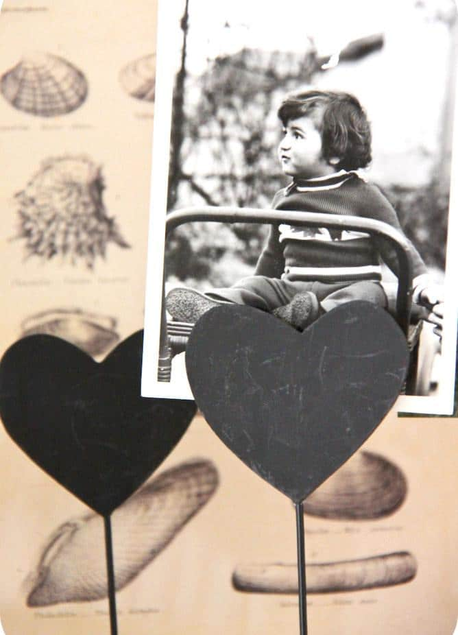 Heart clips and black and white photo - 50 Creative Home Decorating Ideas