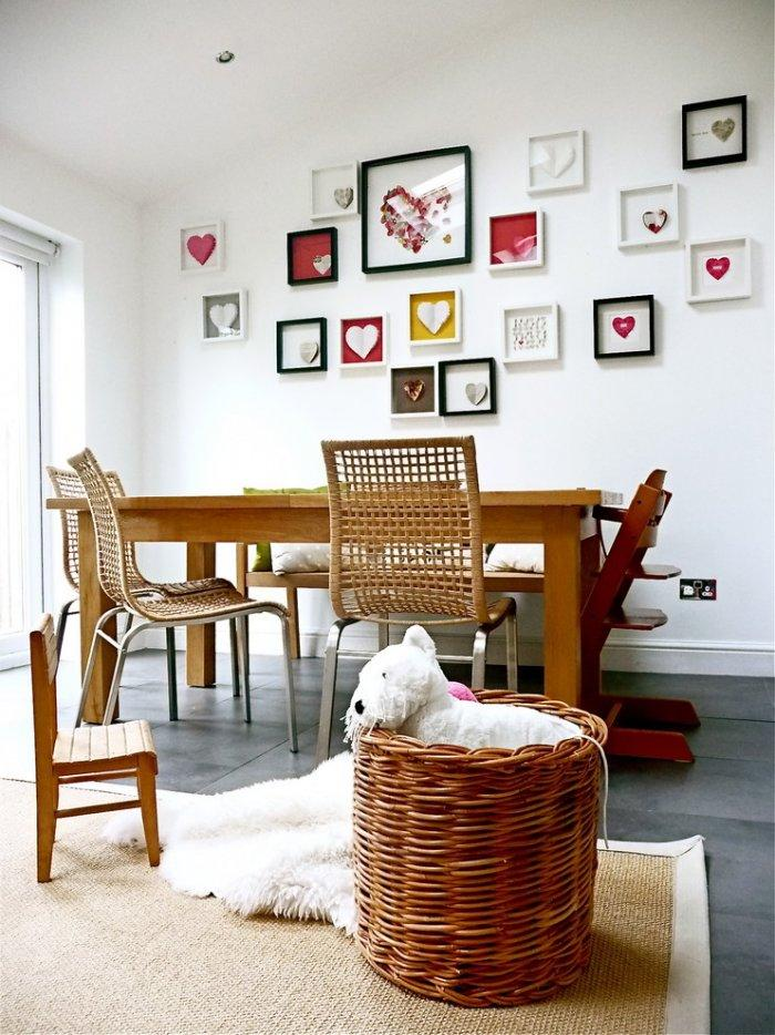 Heart inspired wall art - 50 Creative Home Decorating Ideas