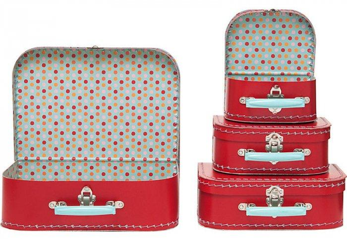 Interesting and Funny Approach to Saint Valentine's Day - Large Red Multi Dots Suitcases