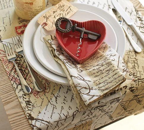 Love Letter Table Runner- 19 Amazing Valentine's Day Home Decorating Ideas