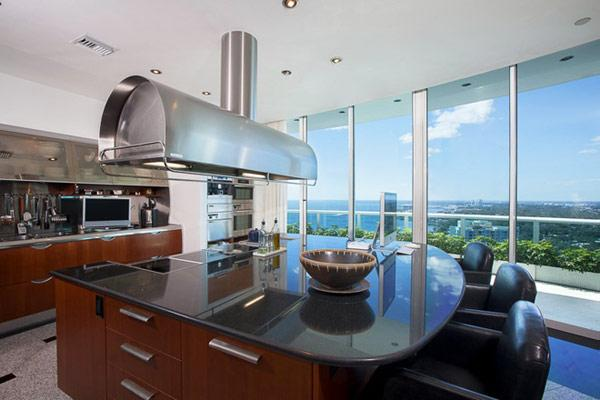 Luxury modern kitchen - Pharrell Williams' Miami Penthouse Interior at a Glance