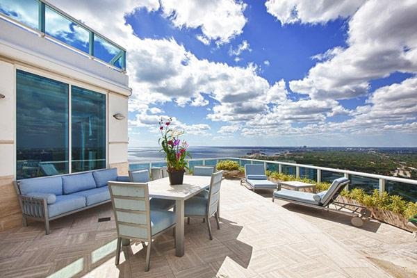 Luxury rooftop terrace - Pharrell Williams' Miami Penthouse Interior at a Glance