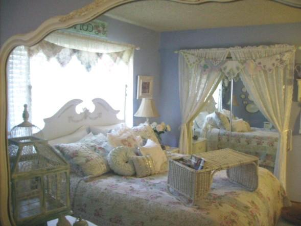 Mirror reflection of a romantic bedroom - Valentine's Day Ideas and Inspiration