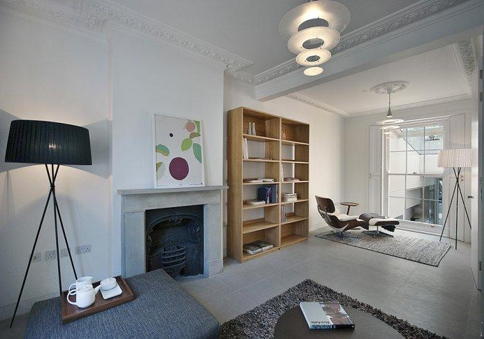 Contemporary interior in neutral colors - A modern look at an Old Home in London