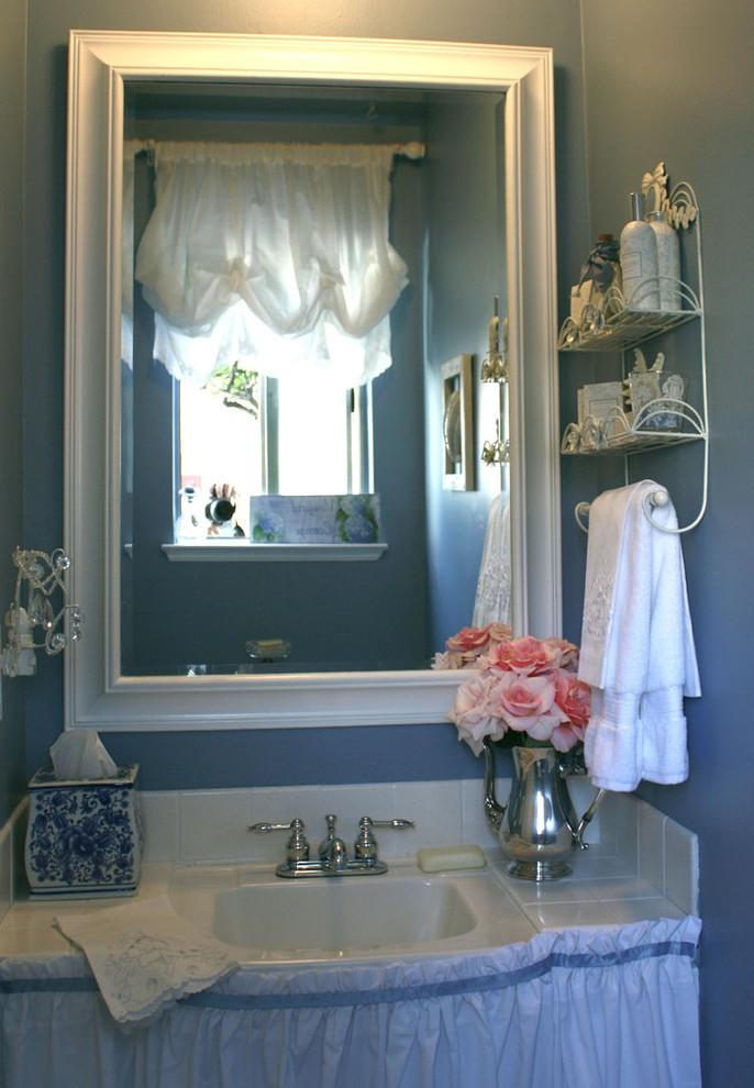 Neatly decorated romantic bathroom vanity - Valentine's Day Ideas and Inspiration