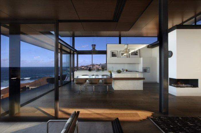 Open plan interior in a modern house in Sydney - Dream home Overlooking the Pacific Ocean