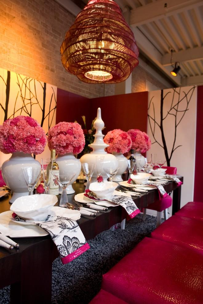 Pink carnations and fuchsia accents for Saint Valentine's day - 50 Creative Home Decorating Ideas