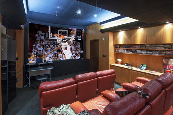 Private home theater room - Pharrell Williams' Miami Penthouse Interior at a Glance
