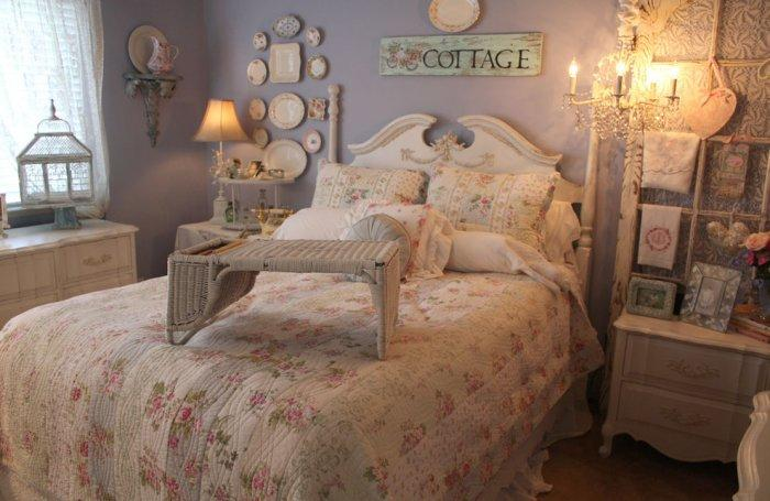Romantic bedroom setting in mild hues - Valentine's Day Ideas and Inspiration