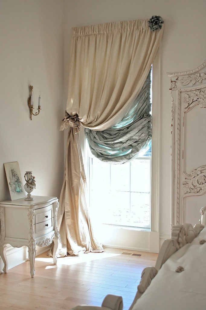 Romantic bedroom with window curtains for blocking street light - 15 Tips for a Valentine's Day Interior