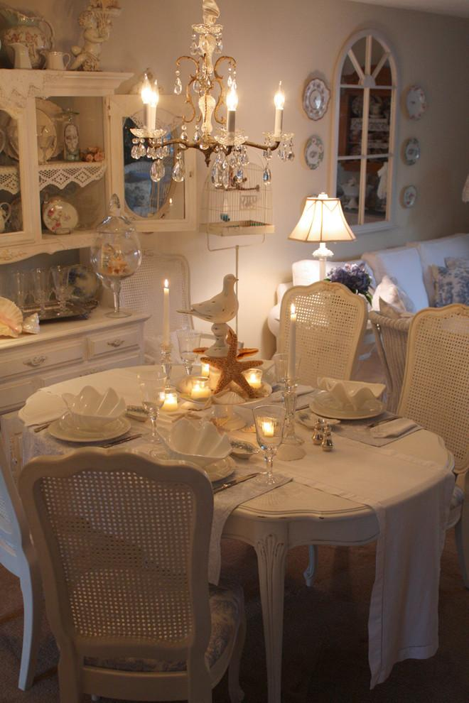Romantic dining table setting with candles - Valentine's Day Ideas and Inspiration